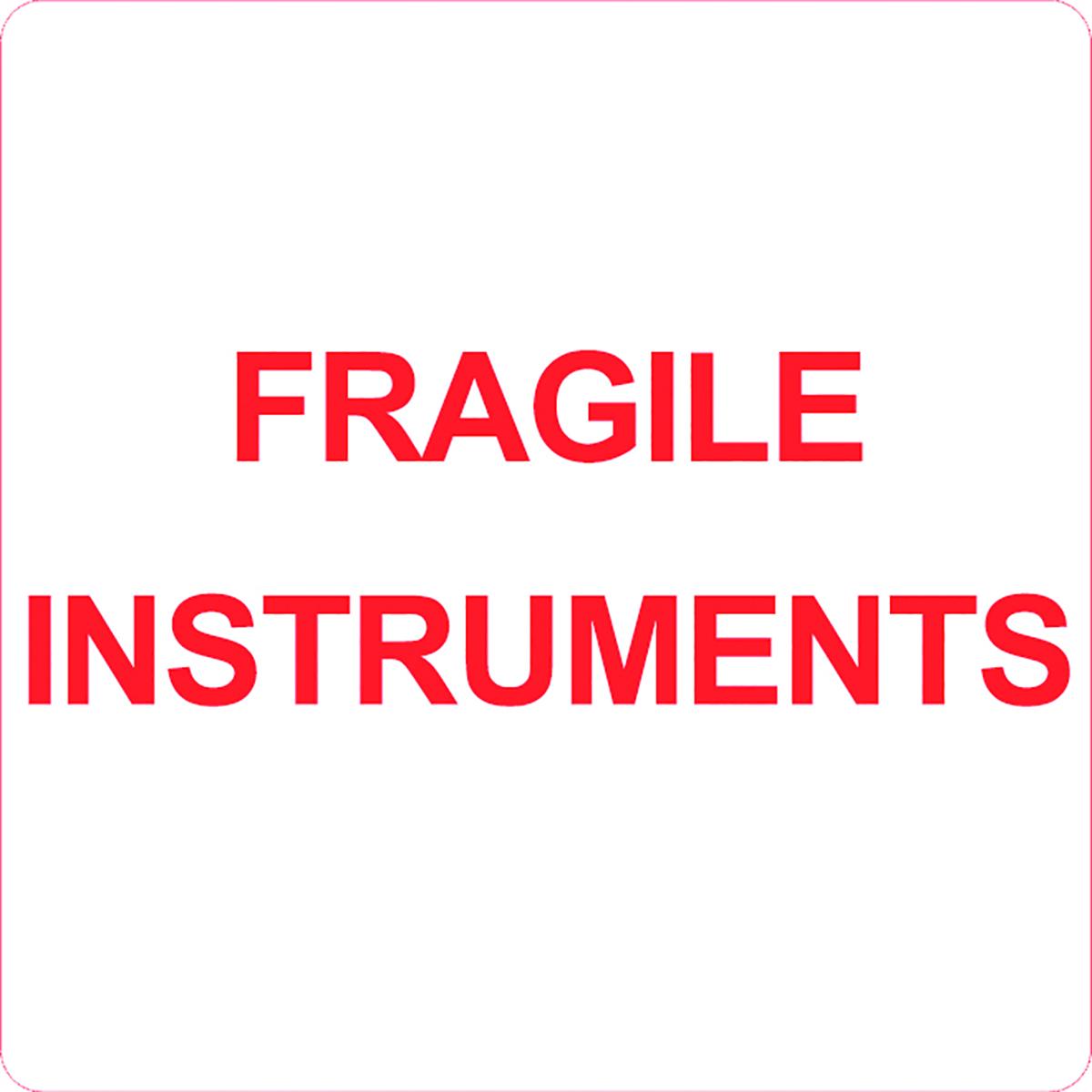 Fragile Instruments Alert Label  Image