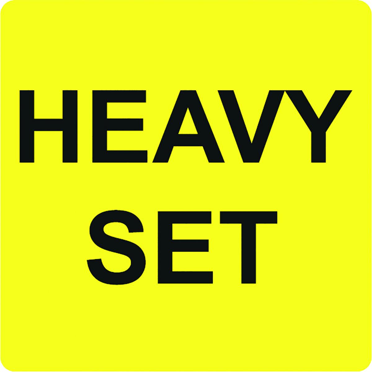 Heavy Set Alert Label  Image